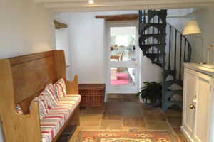 Spiral Staircase at The Granary, Self Catering Cottage in the Quantock Hills